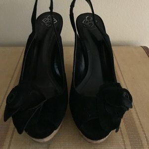 BGBG wedge suede sandals